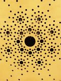 Seamless wood pattern. Seamless dotted wooden pattern in yellow stock image
