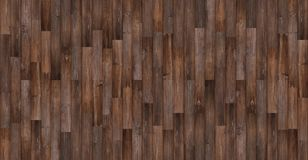 Seamless wood texture background, Panoramic dark wood floor texture Royalty Free Stock Photo