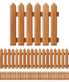 Seamless wooden fence Royalty Free Stock Image