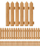 Seamless wooden fence Stock Image