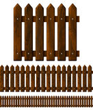 Seamless wooden fence Royalty Free Stock Photos