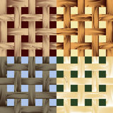 Seamless wooden lath pattern Royalty Free Stock Photography
