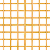 Seamless wooden lattice isolated on white Royalty Free Stock Photography