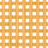 Seamless wooden lattice isolated on white Royalty Free Stock Images