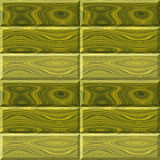 Seamless wooden pattern of green and yellow boards with rings Stock Photography
