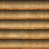 Seamless wooden shelves for product display Royalty Free Stock Images