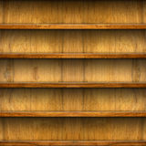 Seamless wooden shelves for product display Stock Photo