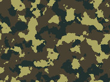 Seamless woodland camo pattern . Stock Photo