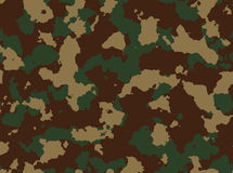 Seamless woodland camo pattern . Royalty Free Stock Image