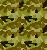 Seamless Woodland Camo Pattern Stock Photo