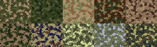 Seamless woodland camo pattern vector Royalty Free Stock Photography