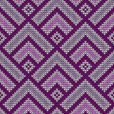 Seamless  wool knitted pattern Stock Photos