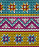 Seamless  wool knitted pattern Royalty Free Stock Photography