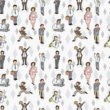 Seamless worker pattern Royalty Free Stock Images