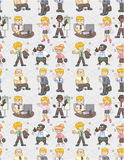 Seamless worker pattern Royalty Free Stock Image