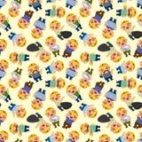 Seamless worker pattern Stock Photo