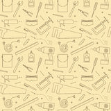 Seamless Workshop Tools Pattern Royalty Free Stock Photo