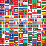 Seamless world flags background Royalty Free Stock Photo