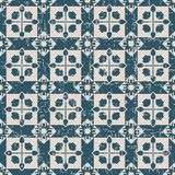 Seamless worn out antique background 171_square cross geometry Royalty Free Stock Photo