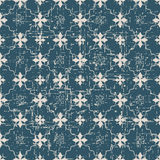 Seamless worn out antique background 183_star flower cross line Royalty Free Stock Photos