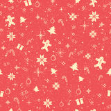 Seamless worn out Christmas decorating items background. Royalty Free Stock Photos