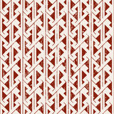 Seamless worn out sawtooth aboriginal geometry pattern background. Seamless background image of vintage worn out red sawtooth aboriginal pattern.n Stock Image