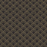 Seamless worn out vintage fish scale pattern background. Royalty Free Stock Image