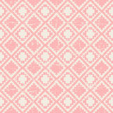 Seamless worn out vintage pink pixel diamond check pattern background. Stock Photography