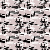 Seamless worn textile pattern of equipment and circuits for CCTV Stock Images