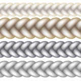 Seamless Woven Braid Vector Royalty Free Stock Images