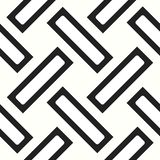 Seamless woven stripes lattice pattern. Modern stylish texture. Repeating abstract background with interlacing lines. Simple monoc. Hrome grid eps10 stock illustration