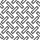 Seamless woven stripes lattice pattern. Modern stylish texture. Repeating abstract background with interlacing lines. Simple monoc. Hrome grid eps10 royalty free illustration