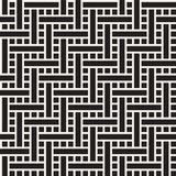 Seamless woven stripes lattice pattern. Modern stylish texture. Repeating abstract background with interlacing lines. Simple monochrome grid vector illustration