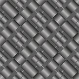 Seamless `woven` vector texture on transparent background. Black and white series No. 1. Eps 10 Royalty Free Stock Photo