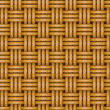 Seamless woven wicker rail fence background Stock Images