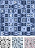 Seamless Wrapping Paper. Set #1. (Quick & Easy Editing. Snowflakes, Squares And Frames Grouped On Colours Royalty Free Stock Image