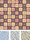 Seamless Wrapping Paper. Set #2. (Quick & Easy Editing. Snowflakes, Squares And Frames Grouped On Colours Royalty Free Stock Images