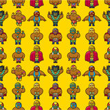 Seamless wrestler pattern Royalty Free Stock Photo