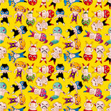Seamless wrestler pattern Stock Photography