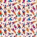 Seamless wrestler pattern Stock Photos