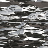 Seamless Wrinkled Tinfoil Texture Stock Photography