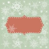 Seamless xmas background with banner Stock Photos