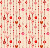 Seamless xmas decoration Stock Images