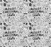 Seamless xmas pattern Stock Photography