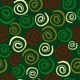 Seamless xmas pattern with spirals. Illustration Royalty Free Stock Image