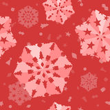 Seamless Xmas Snowflake Background Stock Photo