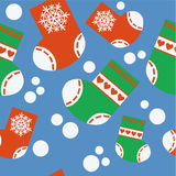 Seamless xmas stocking ornament in color 64 Stock Photography