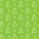 Seamless xmas-tree pattern Stock Images
