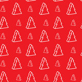 Seamless xmas-tree pattern. Seamless red christmas-tree pattern Stock Photo