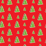 Seamless xmas-tree pattern. Seamless red and green christmas-tree pattern Stock Image